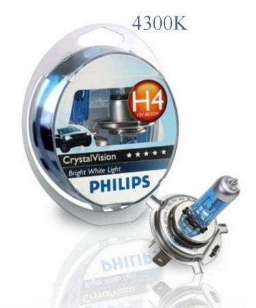 PHILIPS H4 12V 60/55W P43t CrystalVision (12342CV), EUROBOX